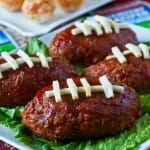 Touchdown Mini Meatloaf and Buffalo Chicken Bites