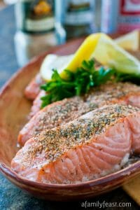 Baked Crusted Salmon - A Family Feast