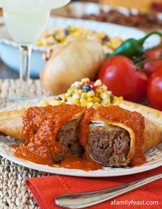 Beef Chimichangas - A Family Feast