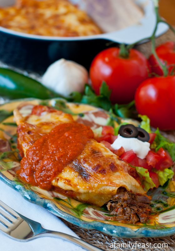 Beef and Bean Enchiladas - A Family Feast