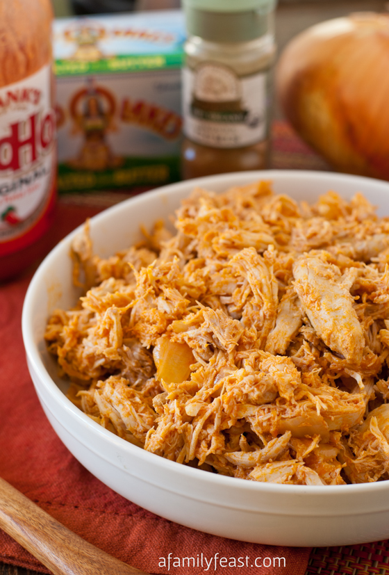 Slow-Cooker Pulled Buffalo Chicken - A Family Feast