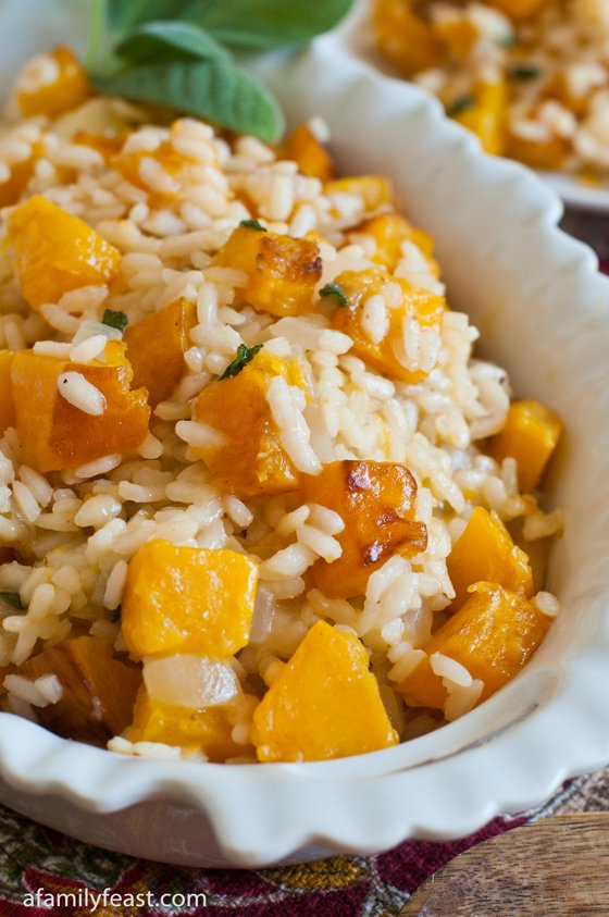 ... the fruits of our labor with this delicious Butternut Squash Risotto