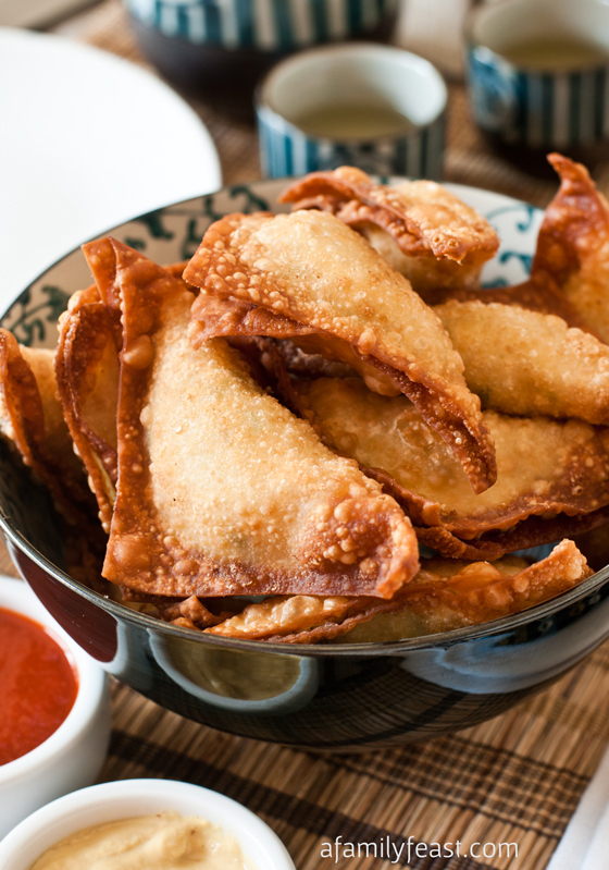 An easy and super delicious recipe for Crab Rangoon - so creamy and savory. These are some of the best I've had. Adapted from Trader Vic's recipe.