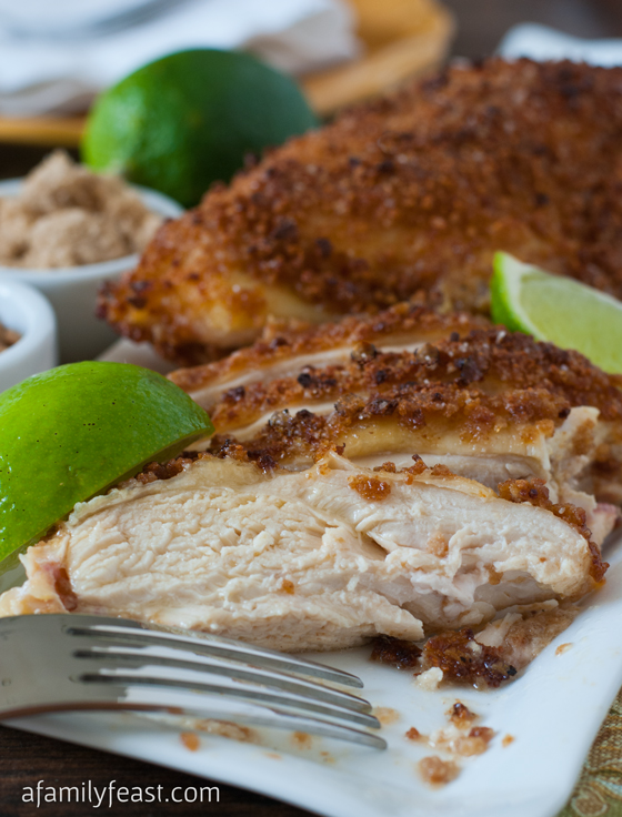 Crunchy Sweet and Salty Chicken - an easy and super delicious meal that both grownups and kids love! The flavors in this chicken dish are fantastic!