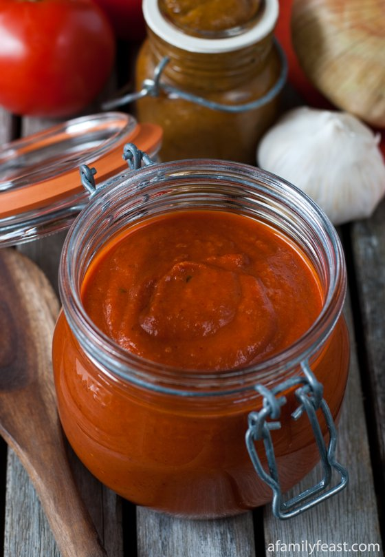 A homemade Enchilada Sauce - so much better than any jarred sauce!