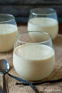 Greek Yogurt Panna Cotta - A Family Feast