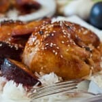 Chicken with Sweet and Sour Plum Sauce - A Family Feast