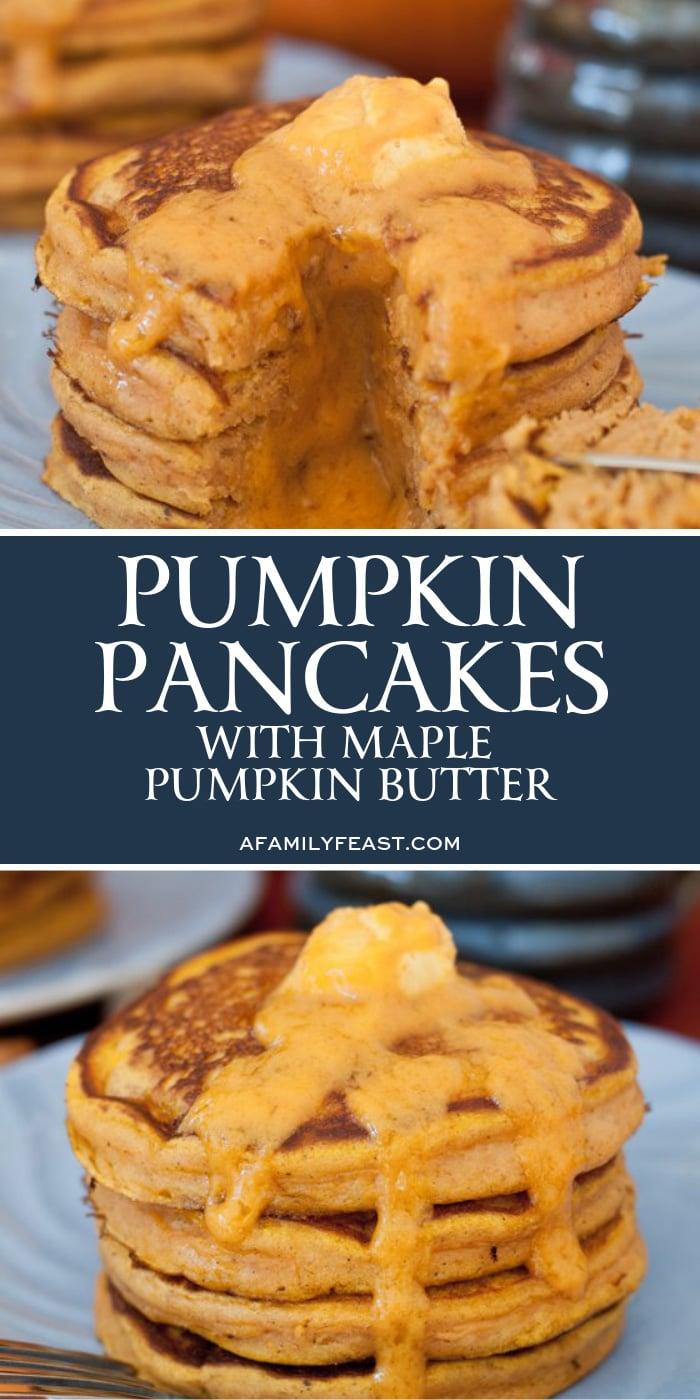 Pumpkin Pancakes with Maple Pumpkin Butter