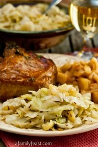 Braised Apples and Cabbage - A Family Feast