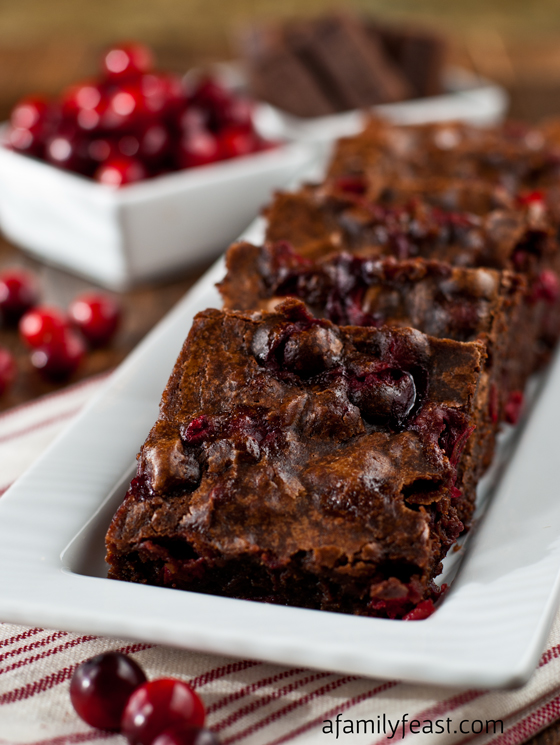 Cranberry Brownies - The sweet tart taste of fresh cranberries added to the fudgy, moist brownies is the most perfect combination!! My husband says there are the best brownies he's ever eaten!