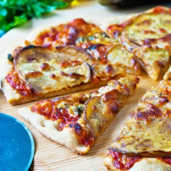 Eggplant and Garlic Pizza - A Family Feast
