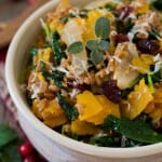 Farro with Butternut Squash and Baby Kale