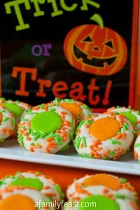 Halloween Thumbprint Cookies - A Family Feast