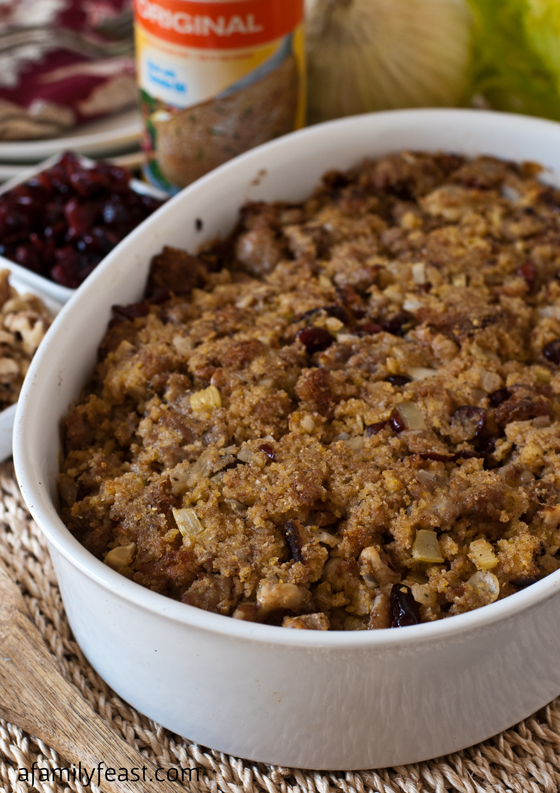 Cornbread Sausage Stuffing - A Family Feast