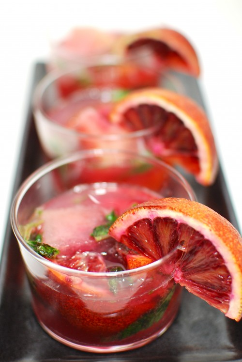 30+ Holiday Cocktails - SanPellegrino Blood Orange Mojito