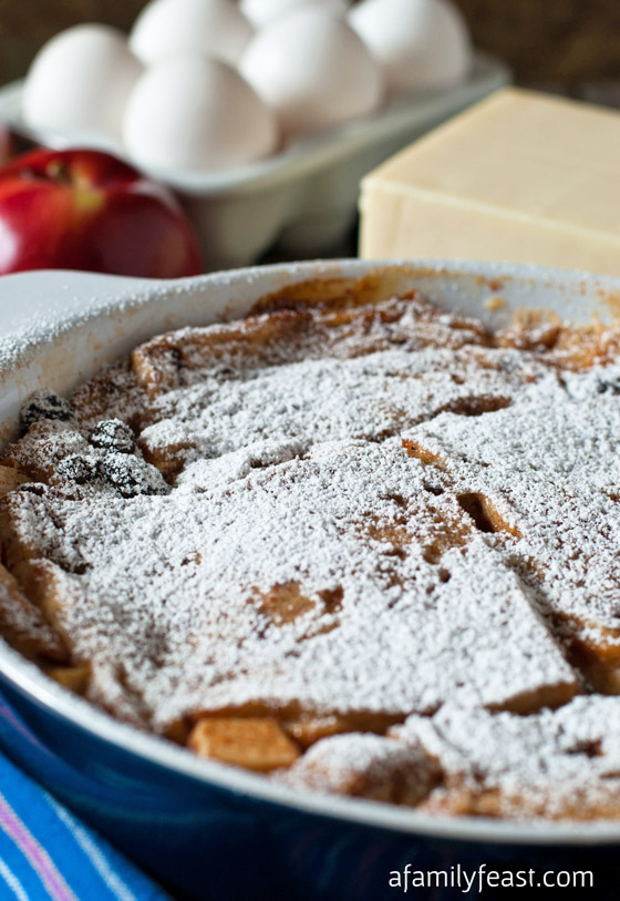 Apple and Cheddar Baked French Toast - A Family Feast