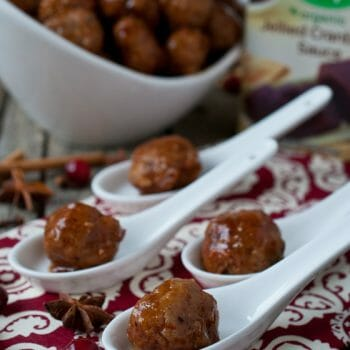 Turkey Meatballs with Cranberry Sweet & Sour Sauce - A Family Feast