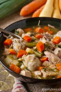 Turkey Soup with Potato Dumplings - A Family Feast