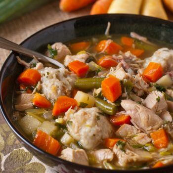 Turkey Soup with Potato Dumplings - A Family Feast