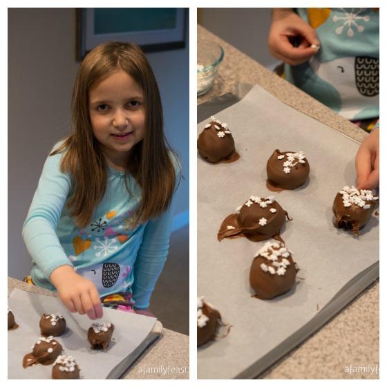 Snowflake OREO Balls - A Family Feast