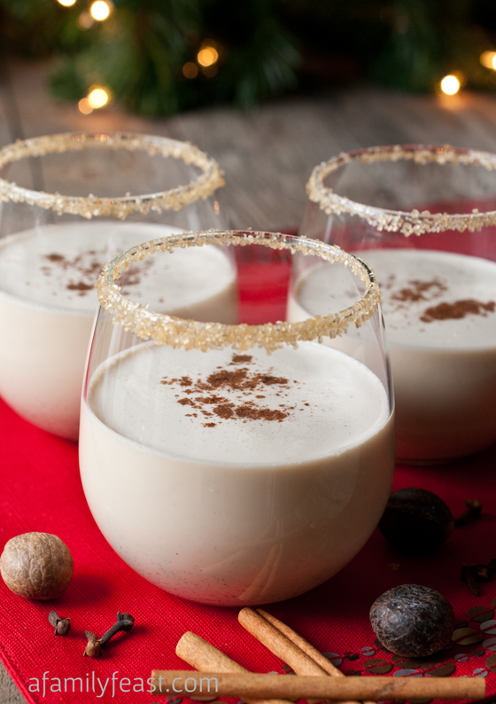 Champagne cosmos a family feast spiced eggnog cocktail forumfinder Choice Image