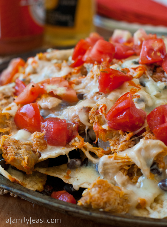Buffalo Chicken Nachos - A Family Feast