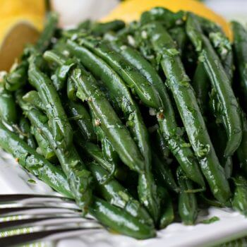 Marinated Green Beans with Cilantro and Garlic - A Family Feast