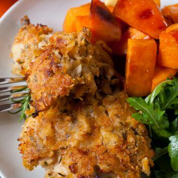 Oven Fried Rosemary Chicken - A Family Feast