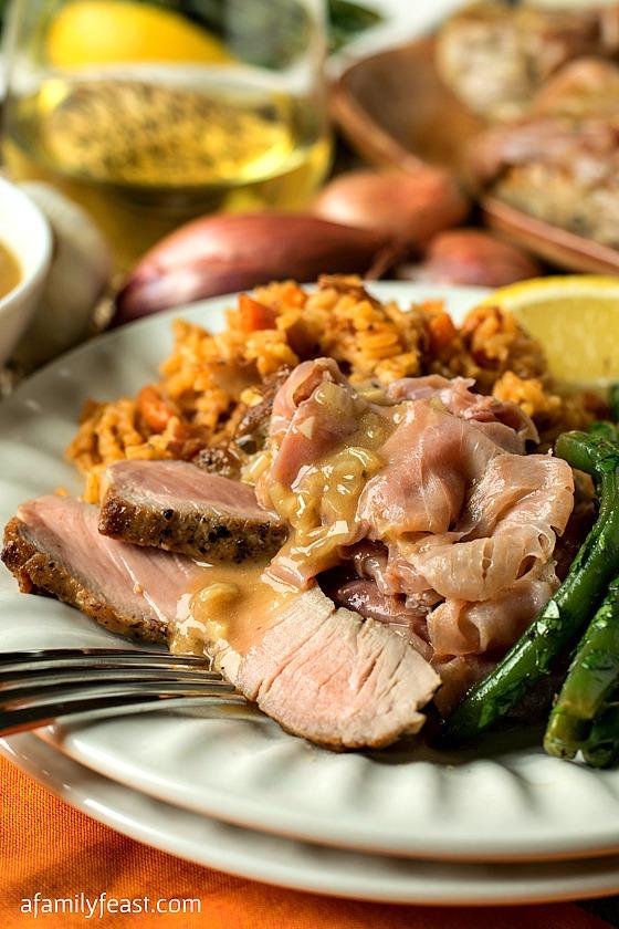 Pork Medallions Portuguese - A Family Feast
