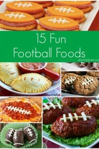 15 Fun Football Foods - A Family Feast