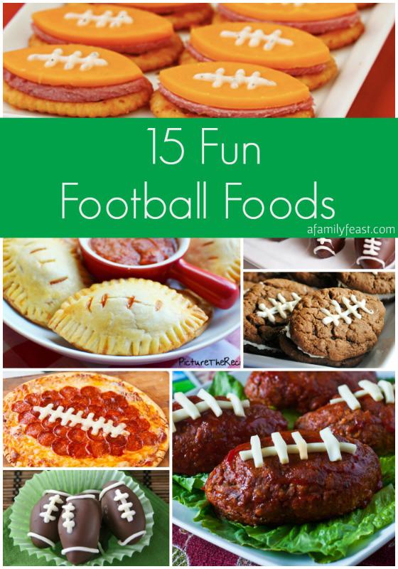 15 Fun Football Foods - A Family Feast