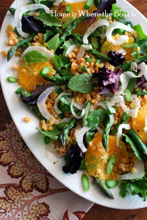 Asparagus-Orange Lentil Salad - 20 Sensational Healthy Salads