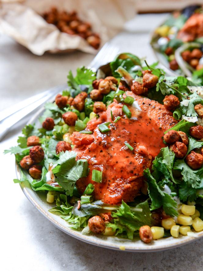 BBQ Salmon Salad- 20 Sensational Healthy Salads