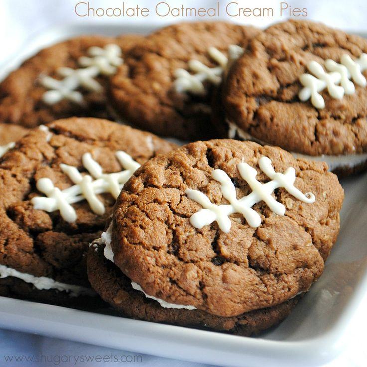 Chocolate Oatmeal Cream Pies - 15 Fun Football Foods