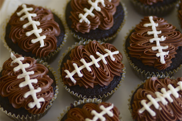 Double Chocolate Football Cupcakes - 15 Fun Football Foods