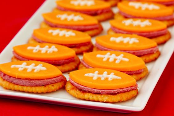 Football Bites - 15 Fun Football Foods
