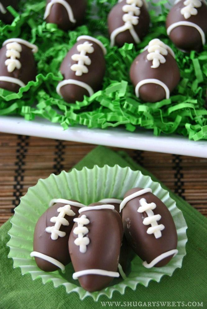 Football Peppermint Patties - 15 Fun Football Foods
