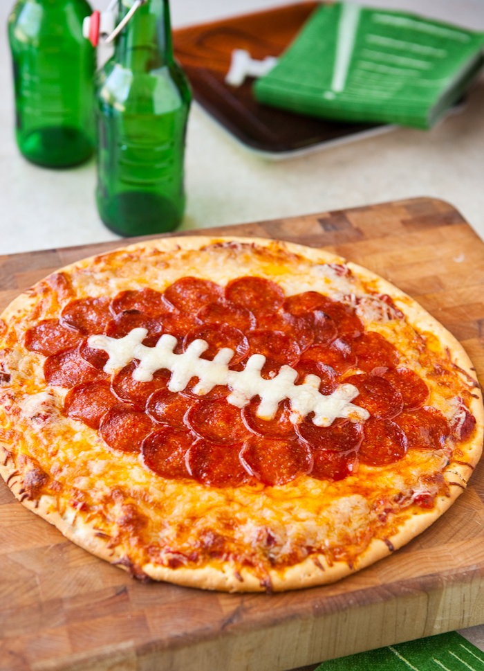 Football Pepperoni Pizza - 15 Fun Football Foods