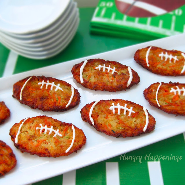 Football Zucchini  Fritters - 15 Fun Football Foods