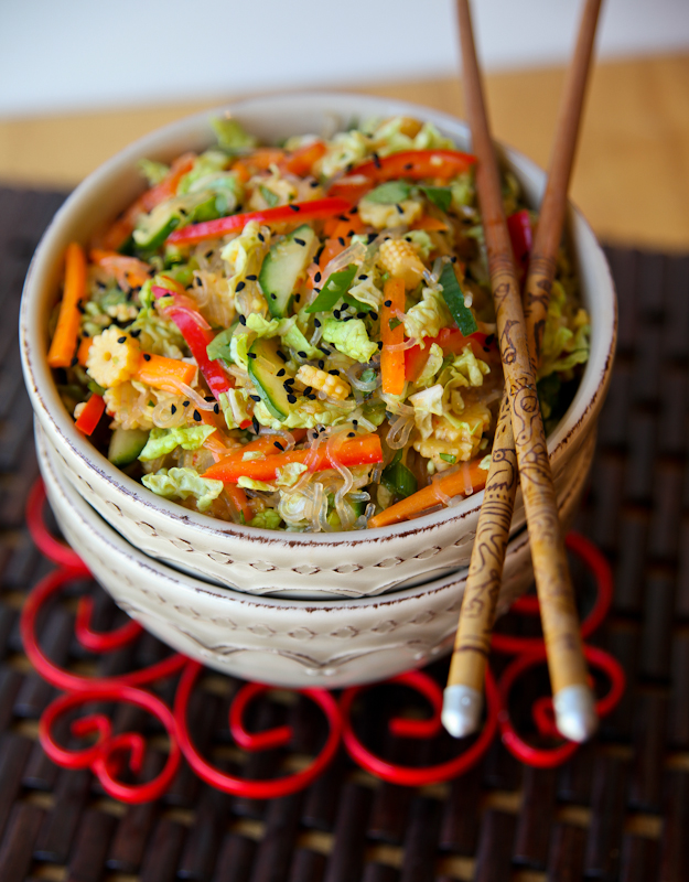 Inside Out Chinese Spring Roll Salad - - 20 Sensational Healthy Salads