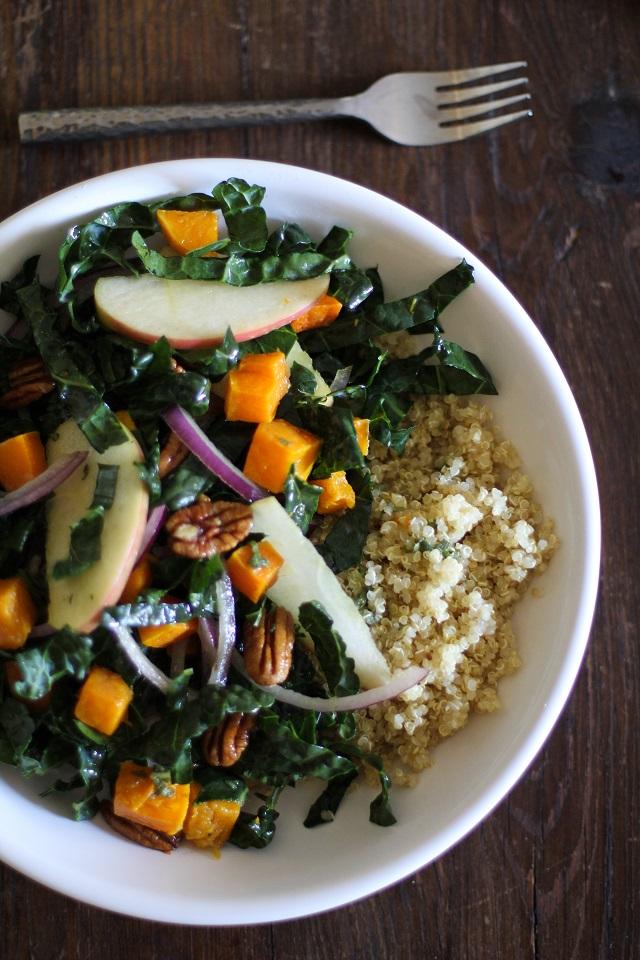 Roasted Butternut Squash Kale Salad - 20 Sensational Healthy Salads