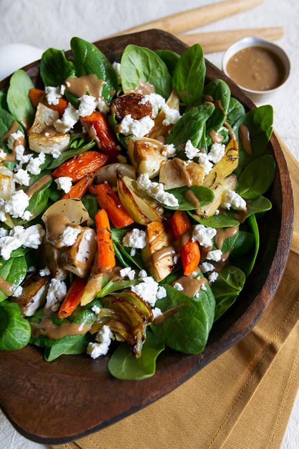 Roasted Root Vegetable Salad - 20 Sensational Healthy Salads