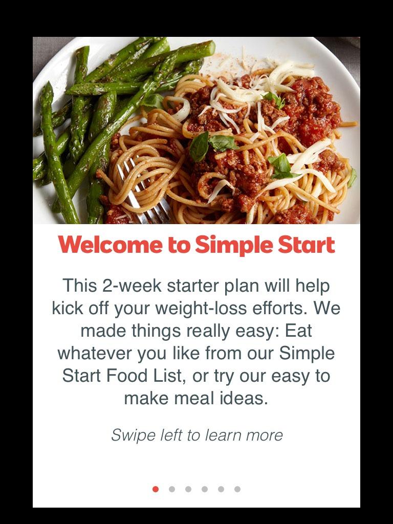 #SimpleStart from Weight Watchers