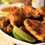 Crispy Asian Chicken Wings with Ginger-Lime Dipping Sauce - A Family Feast