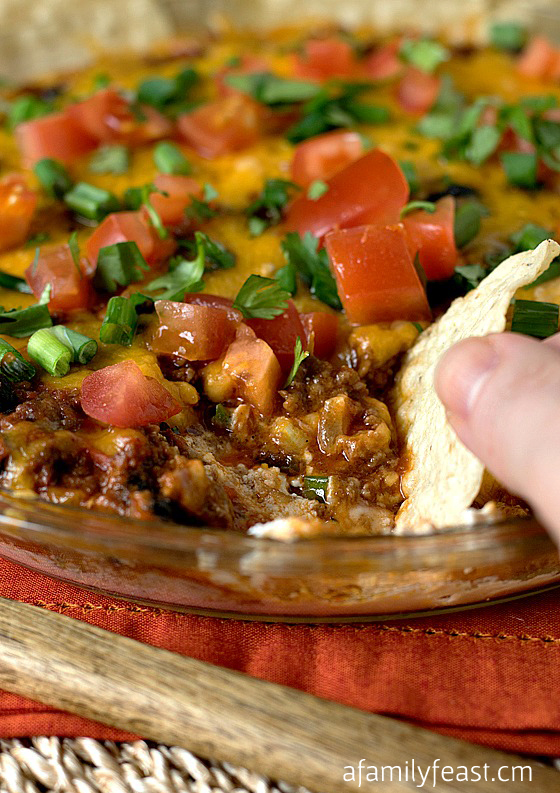 game day appetizer chili dip