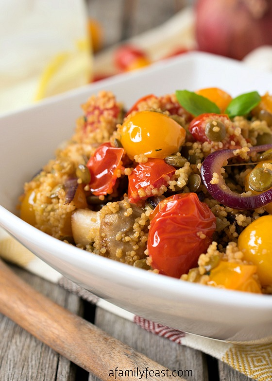 Couscous with Lentils and Vegetables - A delicious vegetarian meal or side dish that is part of the Weight Watchers #SimpleStart program.