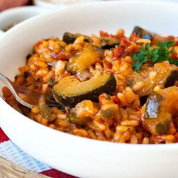 Zucchini Tomato Risotto - A Family Feast