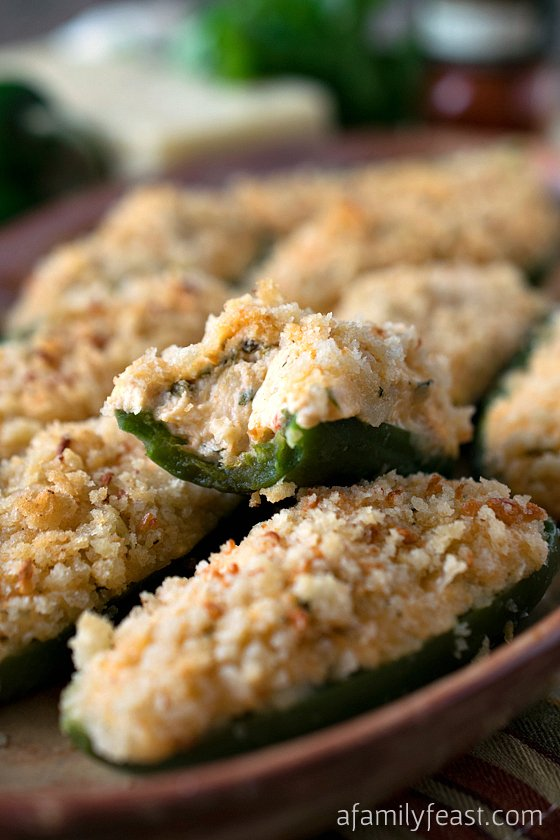 Baked Jalapeño Poppers - The perfect game day appetizer made easier and a little lighter!