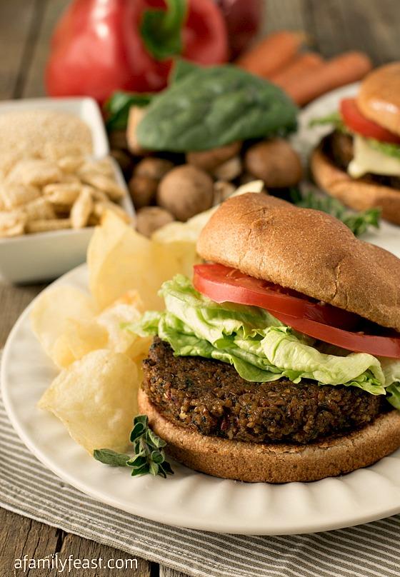 Gluten-Free Veggie Burgers - A Family Feast