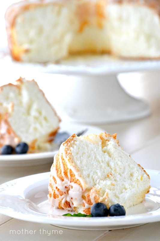Lemon Angel Food Cake - 15+ Luscious Lemon Recipes